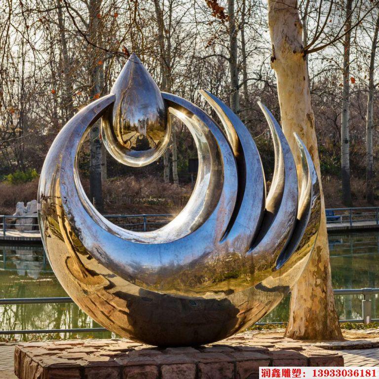 珍惜水滴雕塑